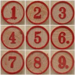 Bingo 1 to 9 squircle mosaic