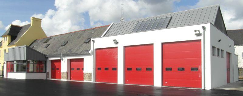 le Centre d'Incendie et de Secours de Plonéour-Lanvern, vue d'ensemble