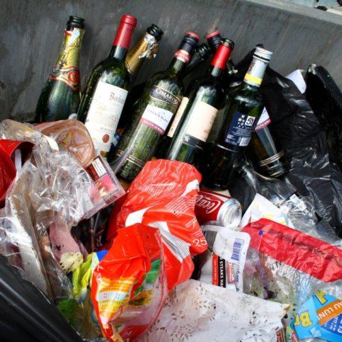 Pas de verre avec les ordures ménagères !