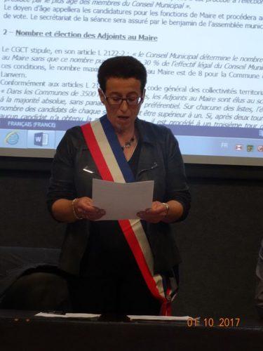 Josiane Kerloch, élue Maire de Plonéour-Lanvern