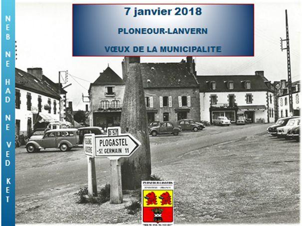 Voeux du Maire Josiane Kerloch le 7 janvier 2018 à Plonéour-Lanvern