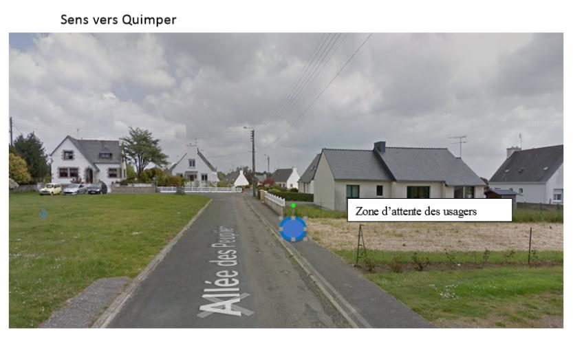 Plonéour-Lanvern : arrêt provisoire, direction Quimper