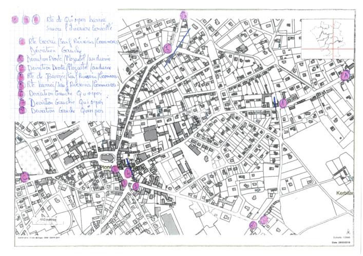 Route de Quimper : plan des déviations d'avril 2018